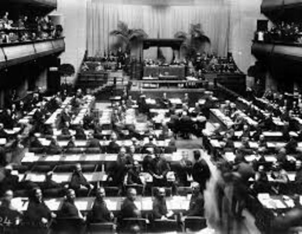 The First Meeting of the League of Nations