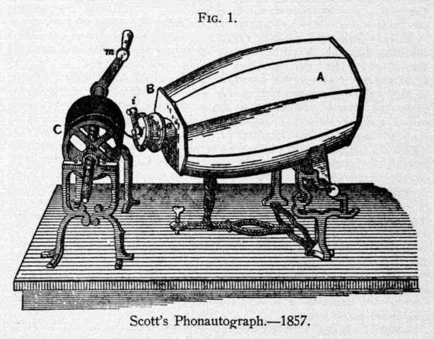 Phonautograph Patented