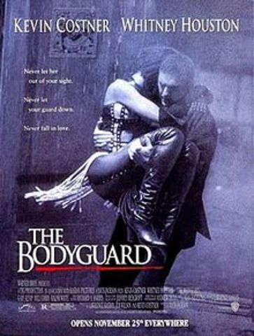 "The film The Bodygaurd is released, starring Whitney Houston and Kevin Costner, soundtrack is best selling soundtrack of all time and Houston wins 3 grammy awards this year for the song ""I Will Always Love You"""