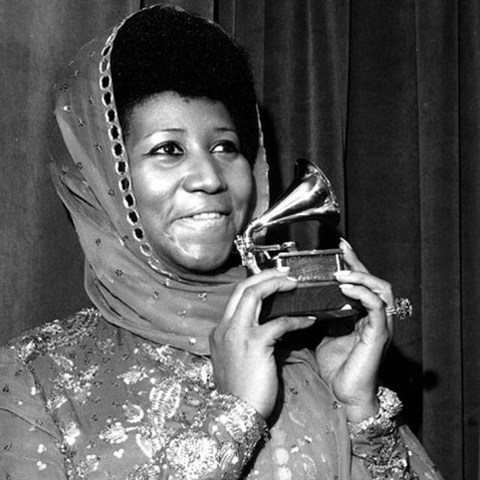 "Aretha wins her first grammy awards for her song ""Respect"""