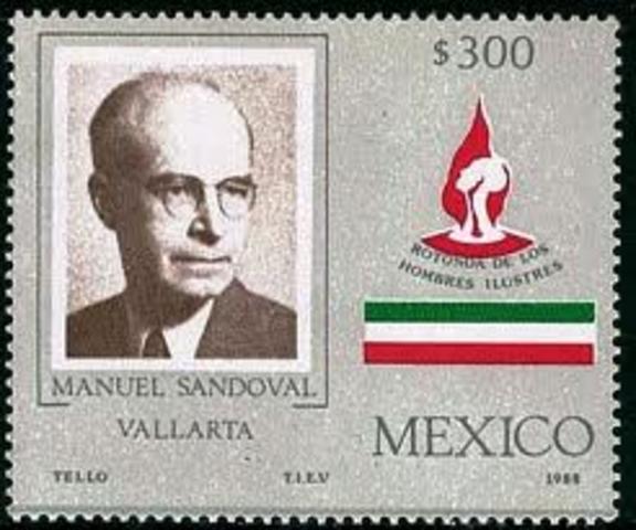 Manuel Sandoval Vallarta aporta a la física de los rayos cósmicos.