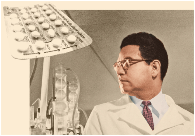 Luis Ernesto Miramontes, químico mexicano co-inventa el primer anticonceptivo oral.