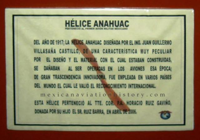 El ingeniero y aviador Juan Guillermo Villasana Castillo diseñó la Hélice Anáhuac