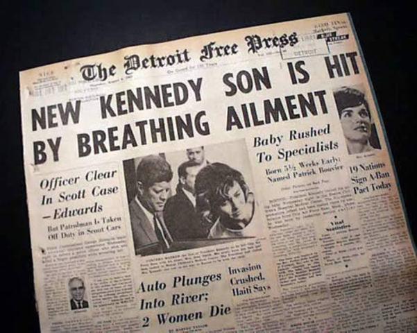 Patrick  Kennedy dies
