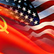 Us soviet flags