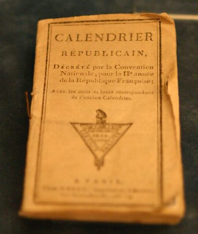 French Republican Calendar adopted by National Convention