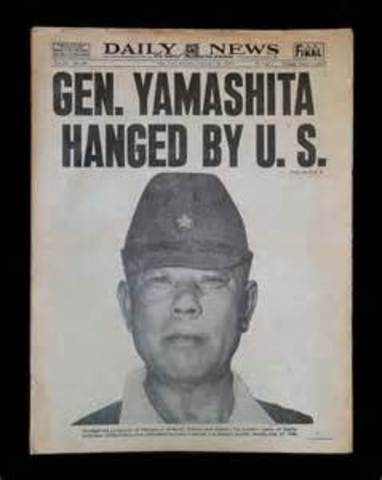 Yamashita hanged in the Philippines