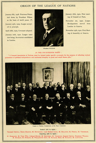 timeline league of nations and world World war i saw the rise of modern propaganda campaigns, and wilson's  rhetoric reflected the emerging view that  senate approval of the league of  nations was wilson's primary goal in this speech  suggested timeline/ objectives.