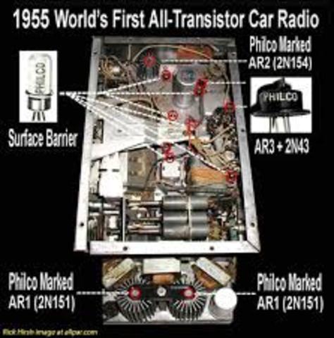 First car all-transistor radio