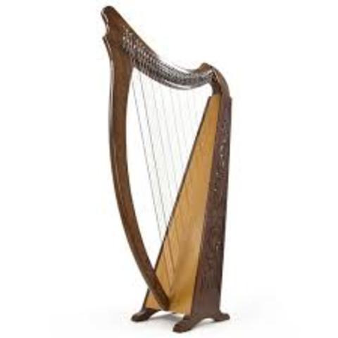 W Euopie w użyciu harfy 6-cio i 12-to strunowe