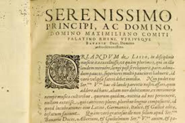 Orlando di Lasso, ,,Magnum opus musicum''