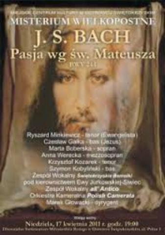 J.S.Bach, ,,Pasja św. Mateusza''
