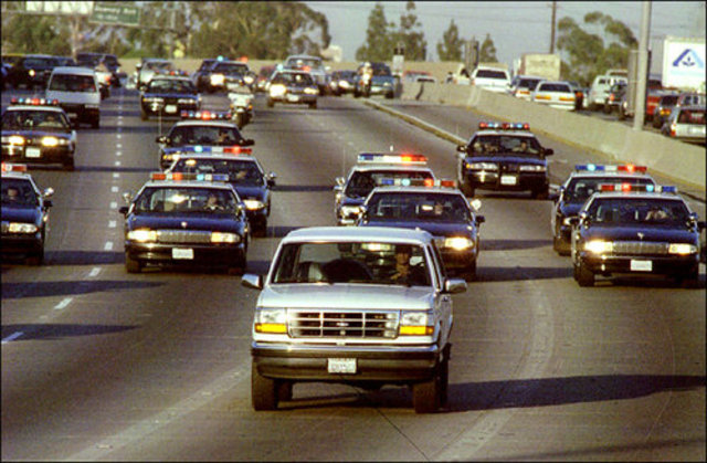 OJ Simpson Runs from the Cops