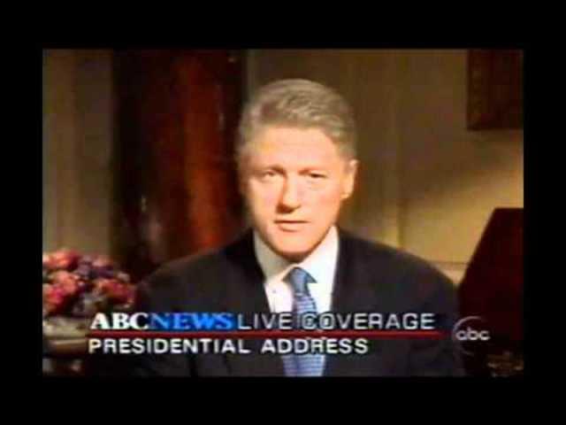 Clinton Admits to the Lewinski Affair