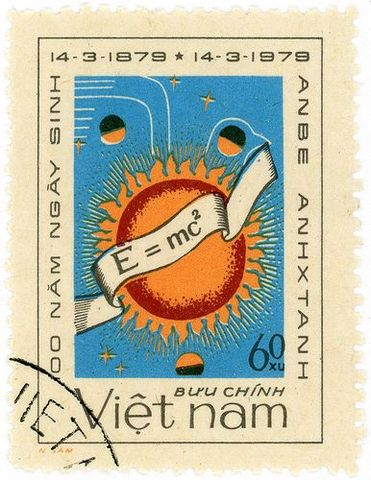E=MC2 used on a stamp in Vietnam