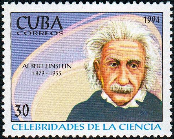 Einstein stamp in Cuba
