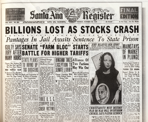 Great Depression/ Stock Market Crash
