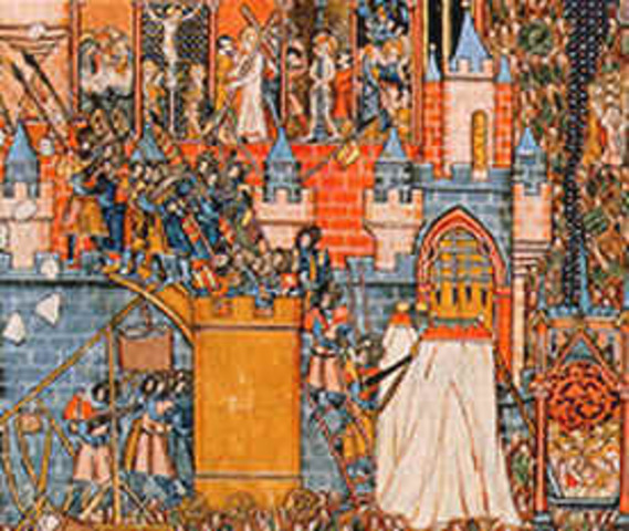 important events of the middle ages The middle ages, or medieval times, in europe was a long period of history from 500 ad to 1500 ad that's 1000 years it covers the time from the fall of the roman empire to the rise of the ottoman empire this was a time of castles and peasants, guilds and monasteries, cathedrals and crusades.