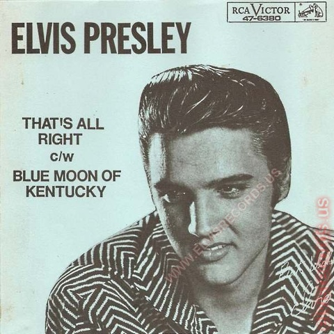 First official record of Elvis Preasley