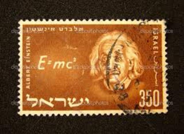 Einstein stamp published in Isreal