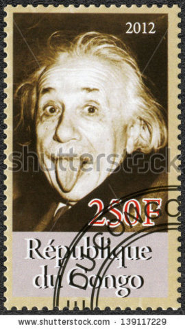 Einstein stamp published in the Republic of Congo