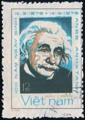 Einstein stamp published in Vietnam