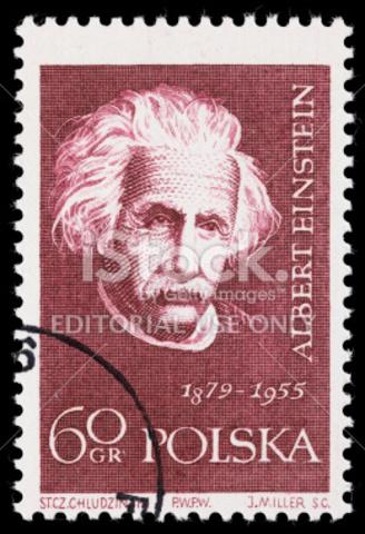 Einstein stamp published in Poland