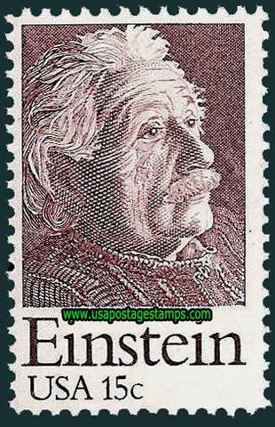 Einstein stamp issued in the United States