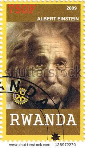Einstein stamp published in Rwanda