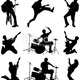 Stock illustration 16830019 rock and roll rockers rocking out