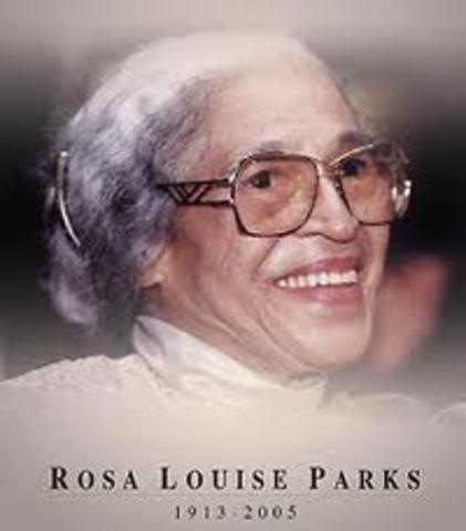 Rosa Louise McCauley Parks timeline | Timetoast timelines