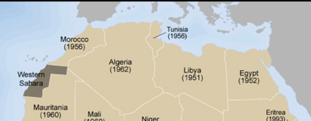 North Africa CE Present Timeline Timetoast Timelines - North african countries