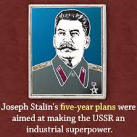 stalin five year plan Joseph stalin, leader of russia (1928-1953), created a five-year plan that included methods and goals which were detrimental to russian agriculture in 1928.