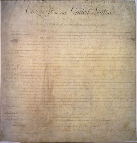 The Bill of Rights was added to the Constitution