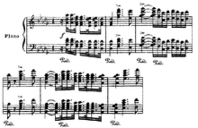 El primer concierto para piano.