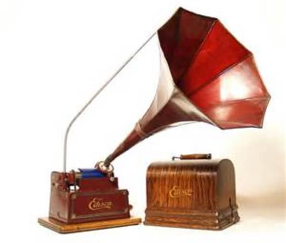 Thomas Edison invents sound recording (phonograph)