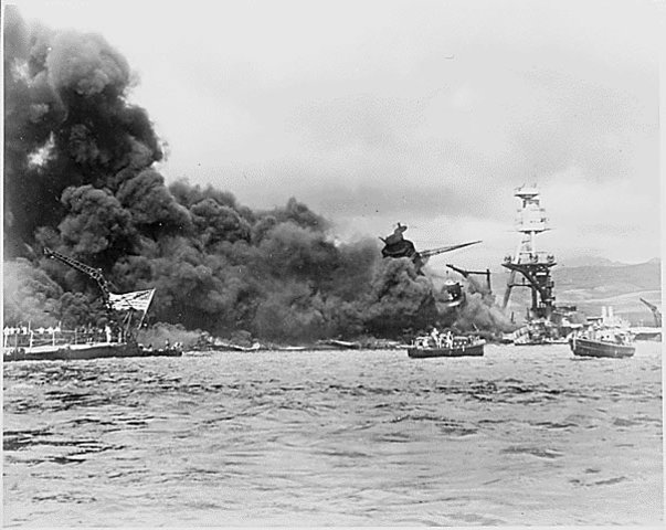 The Japanese attack Pearl Harbor