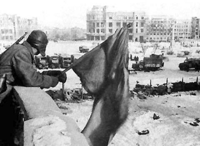 Gerrmans surrender at Stalingrad