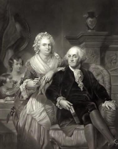 Martha married George Washington