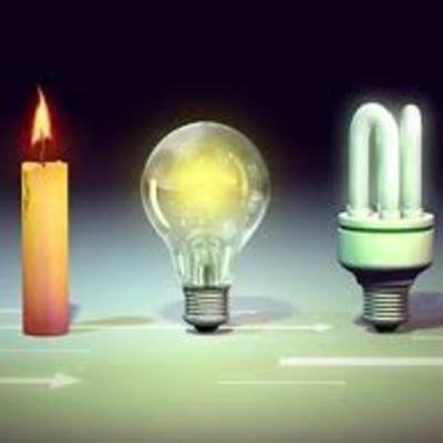 L'évolution de l'éclairage au cours du temps timeline