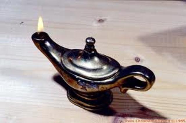 L 39 volution de l 39 clairage au cours du temps timeline - Meche pour lampe a huile ...