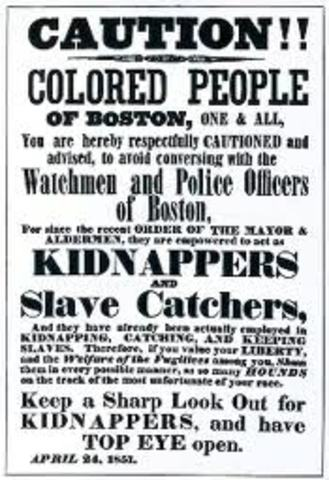 Fugitive Slave Act prompts Stowe to express her position on Act