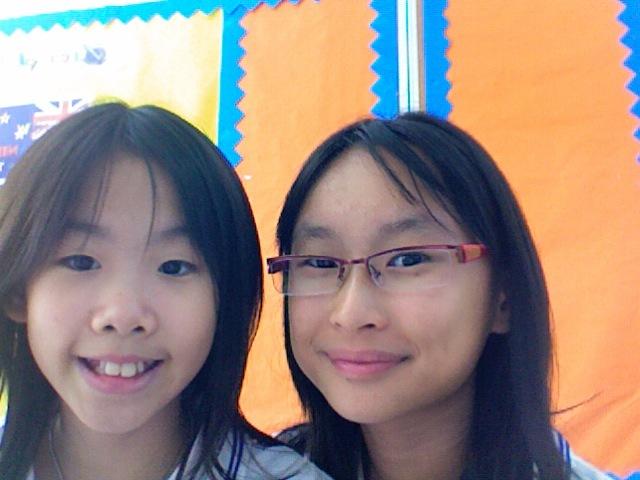 My first day of school, i met my friend Angela.
