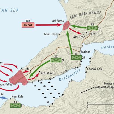 Gallipoli Campain - World War 1 timeline