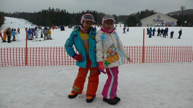 The first time i went skiing in Japan
