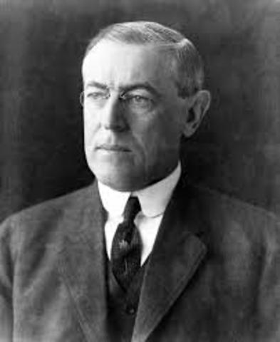 Woodrow wilson Became president
