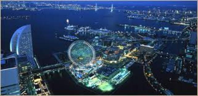 Passepartout, Phileas Fogg, and Aouda leave Yokohoma, Japan for San Francisco, California, USA.