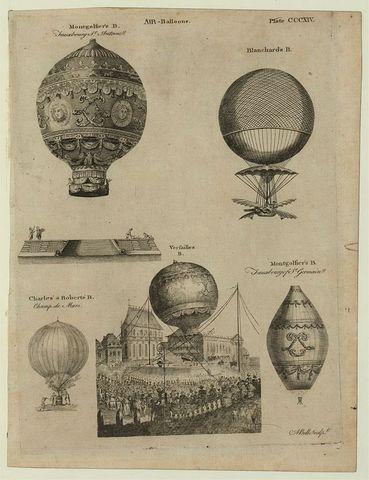 Primer globo de aire caliente