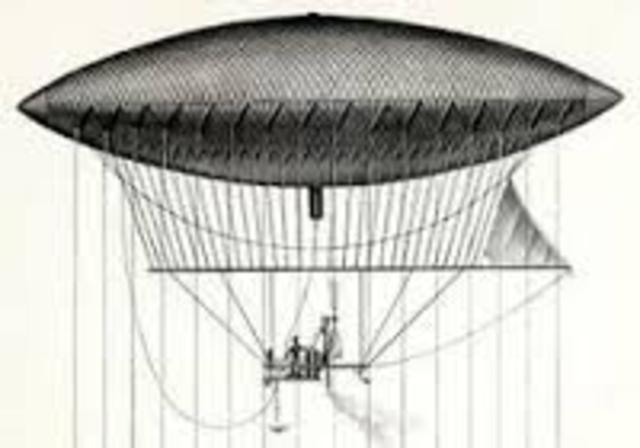 el primer dirigible