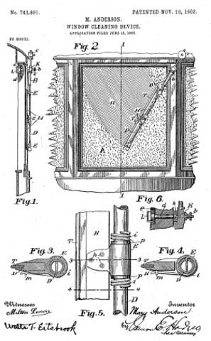 los primeros limpiaparabrisas mecanicos
